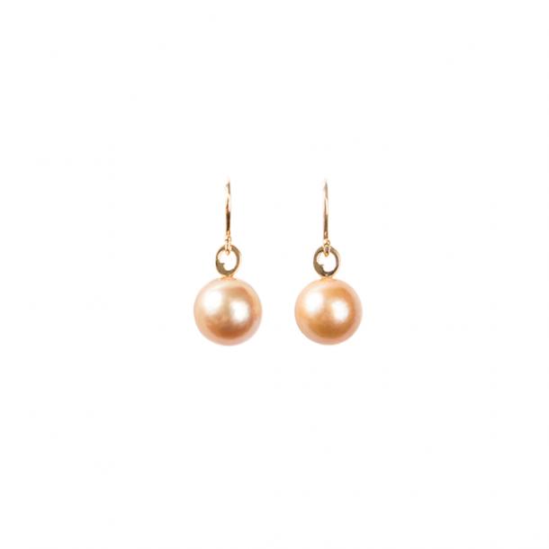 LIZA CASTRO Golden South Sea Pearl Hook Earrings