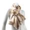 LIZA CASTRO Rectangular Beige Silk Scarf